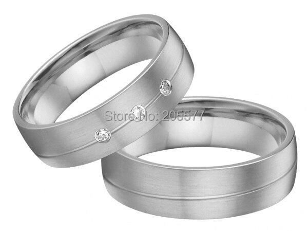 Style européen personnalisé bandes de mariage couples anneau ensembles pur santé titanium bague