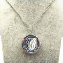 Japan Anime Attack on Titan Wings of freedom Pendant pocket watch