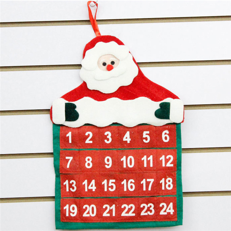 Christmas Mini Santa Claus Calendar 2019 Merry Christmas Decorations Xmas Ornament Home Family Pendant #4n06#f (3)