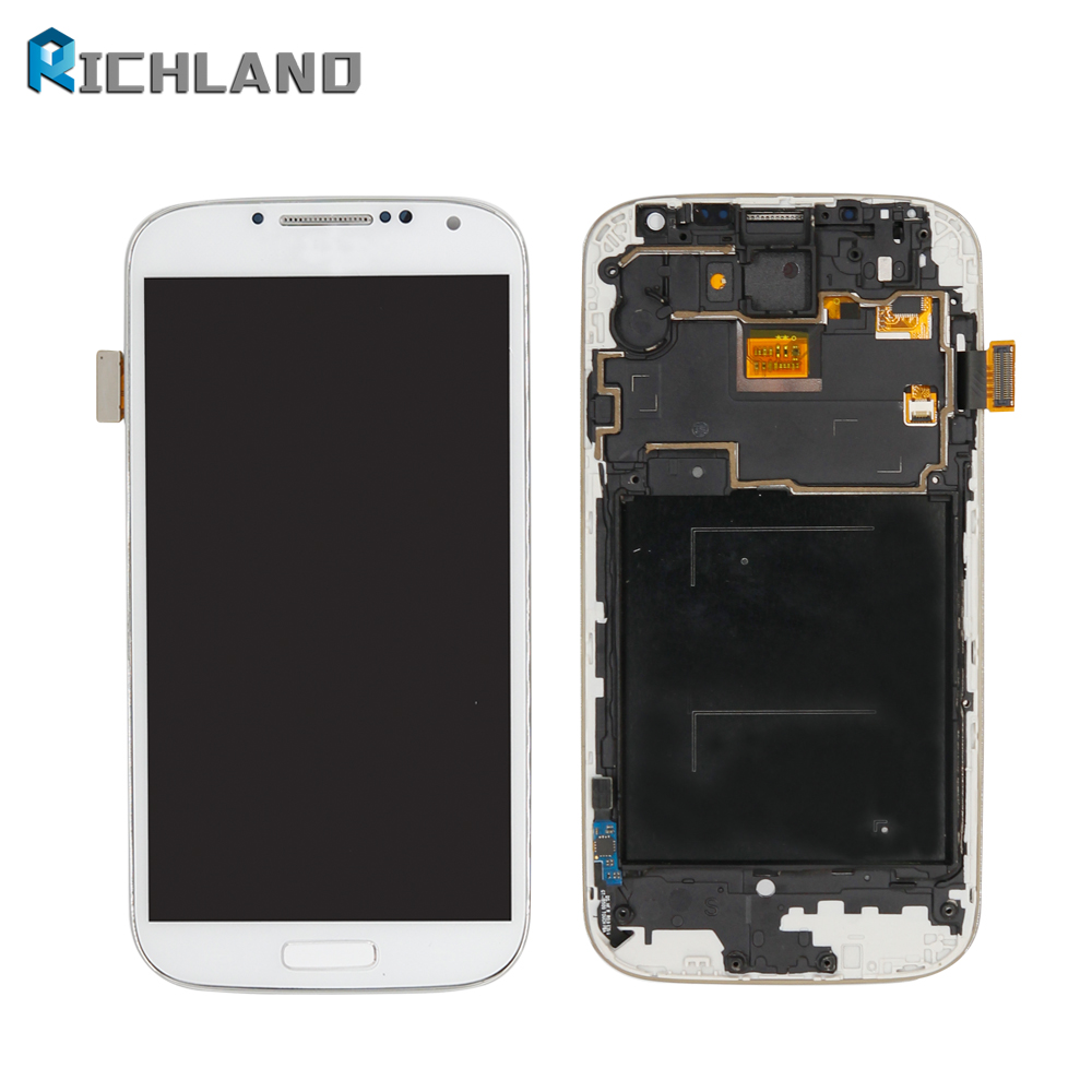For Samsung S4 i337 i9505 i9500 i545 m919 E300S LCD Display touch Screen Digitizer with frame Assembly Mobile Phone repair parts ...