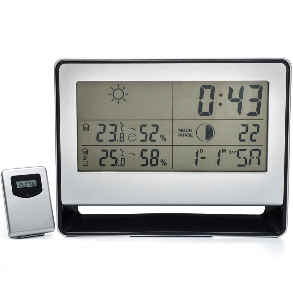 54 Lcd Wireless Weather Station W Alarm Clock Barometer