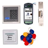 RFID 125Khz Proximity Card Password Entry System Door Gate Access Control system Kit Electric Strike