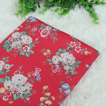 Floral Printed Cotton Fabric Patchwork Cotton Plain Fabric For DIY Sewing Crafts Handmade Quilting Material Cloth For Textile 100pcs 10x10cm square floral cotton fabric diy sewing doll quilting patchwork textile cloth bags crafts