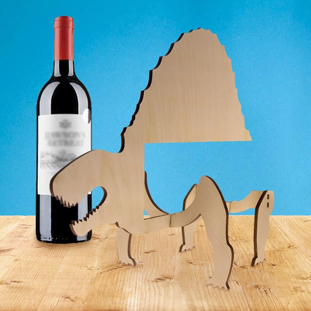1Piece Wooden Dimetrodon Unique Wine Rack Accessory Dinosaur ...