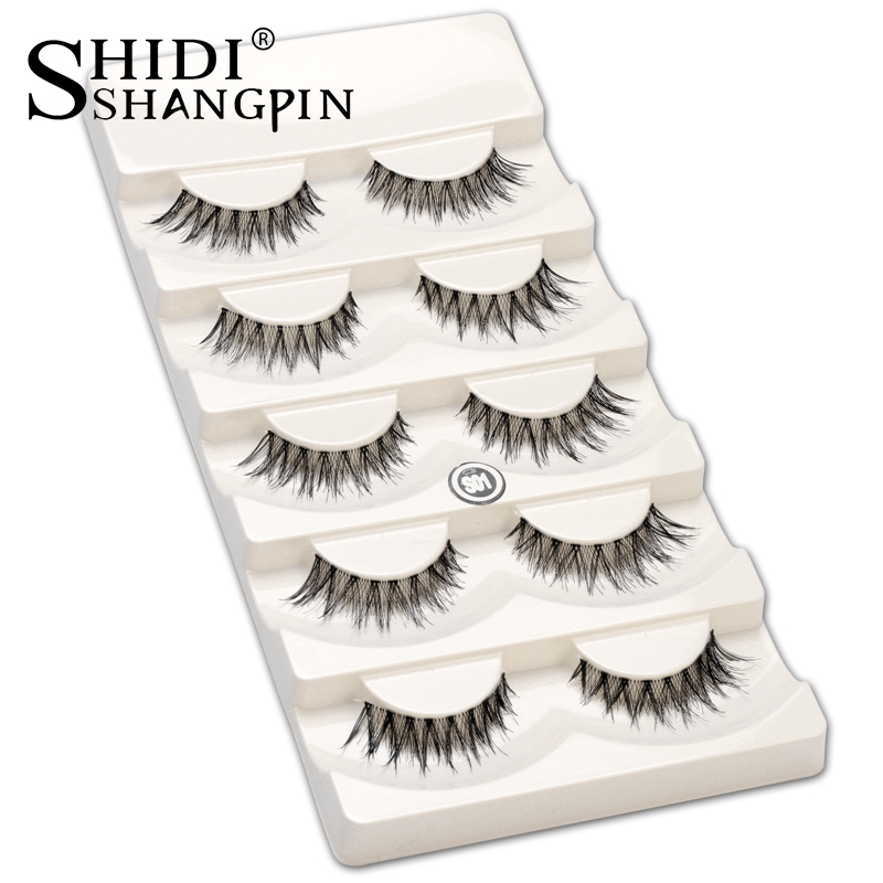 5 pairs Soft Natural False Eyelashes Makeup Long Cross False Lashes Make Up Tools Eyelash Extension Faux Lashes S1