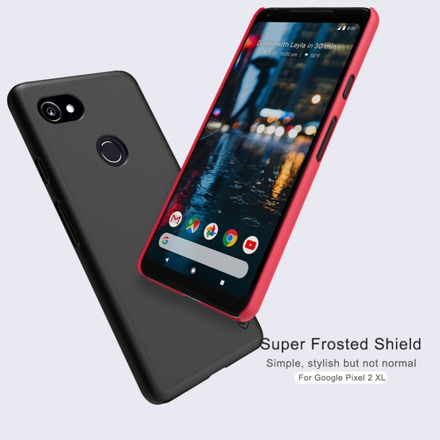 """Nillkin case afor Google Pixel 2 XL 6.0"""" Frosted shield cover plastic case for Google Pixel 2 XL Gift screen protector"""