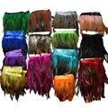 2 Yardas 12 Colores para Las Selecciones Rooster Tail Vestidos de Novia de La Boda Decoración Falda de Plumas Boas Party Decorativo Tira IF25