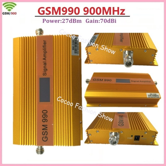 GSM High gain 70dbi Power 27dBm GSM990 900MHz Mobile Phone Signal Repeater GSM ALC Cellular Signal Booster Amplifier with LCD