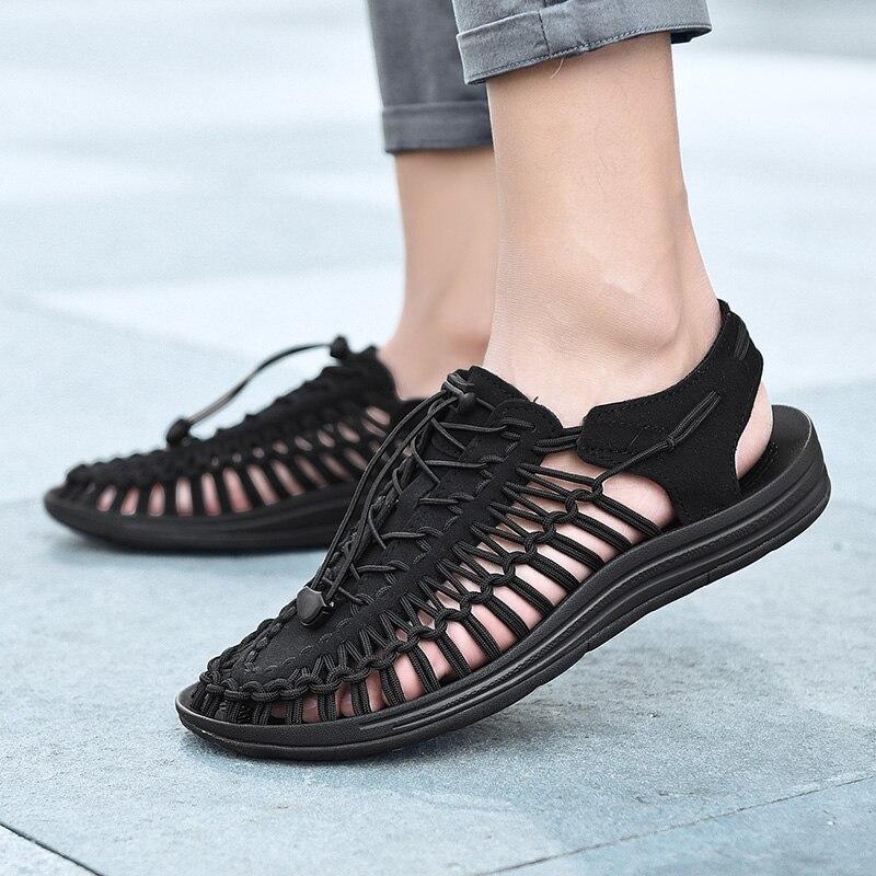 4d60275e7a6 New 2019 Summer Men Sandals Fashion Handmade Weaving Design Breathable  Casual Beach Shoes Unique Brand Sandals For Men 1988 - aliexpress.com -  imall.com