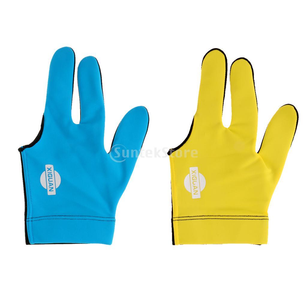 Billiard Pool Shooters Left Hand 3 Fingers Gloves 5colors Billiard Gloves Snooker Gloves Billiard Accessories