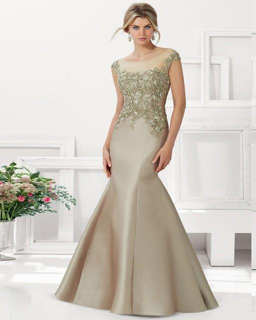 Turquesa 2017 Mãe Dos Vestidos de Noiva Sereia Mangas Frisado Apliques de Vestidos de Noite Longos Vestidos Mãe Para O Casamento