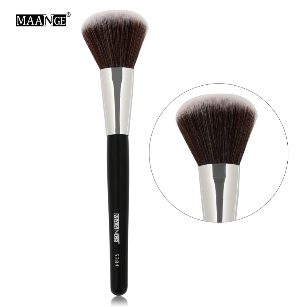 MAANGE 1Pcs Round Blush Brush Contour Blusher Face Cheek Nose Makeup Brush Power Foundation Cosmetic Brush Make Up Tools Hot New