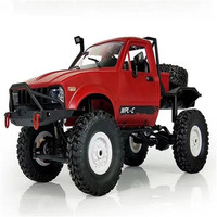 Rock Crawler Truck With Front LED RTR Toys For Children And Adults C-14 1/16 RC Car 2.4G 4WD Off Road RC Military Car