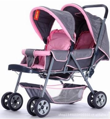 Carrinhos atacado dianteiras e traseiras duplo carrinho de criança gêmeo Stroller