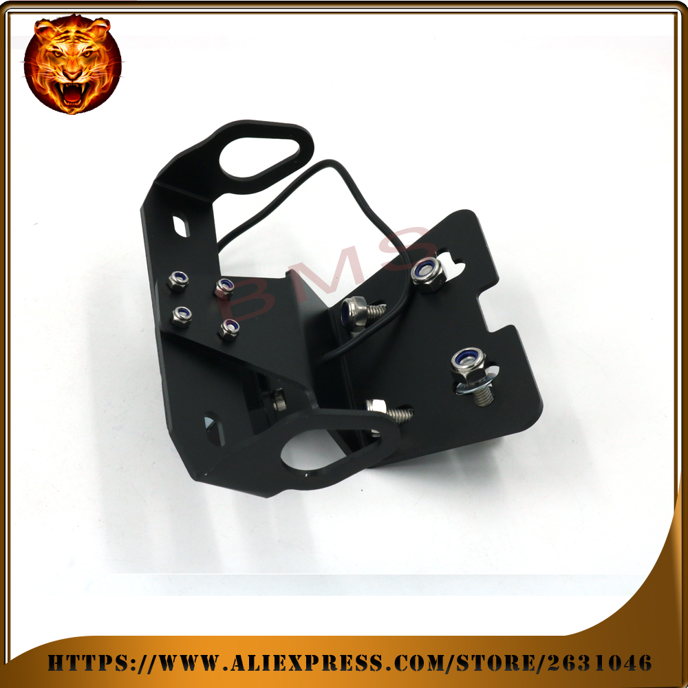 Motorcycle Fender Registration License Plate mount TailLight LED Holder Bracket For YAMAHA fz6r fz-6r 09-15 free shipping logo motorcycle tail tidy fender eliminator registration license plate holder bracket led light for ducati panigale 899 free shipping