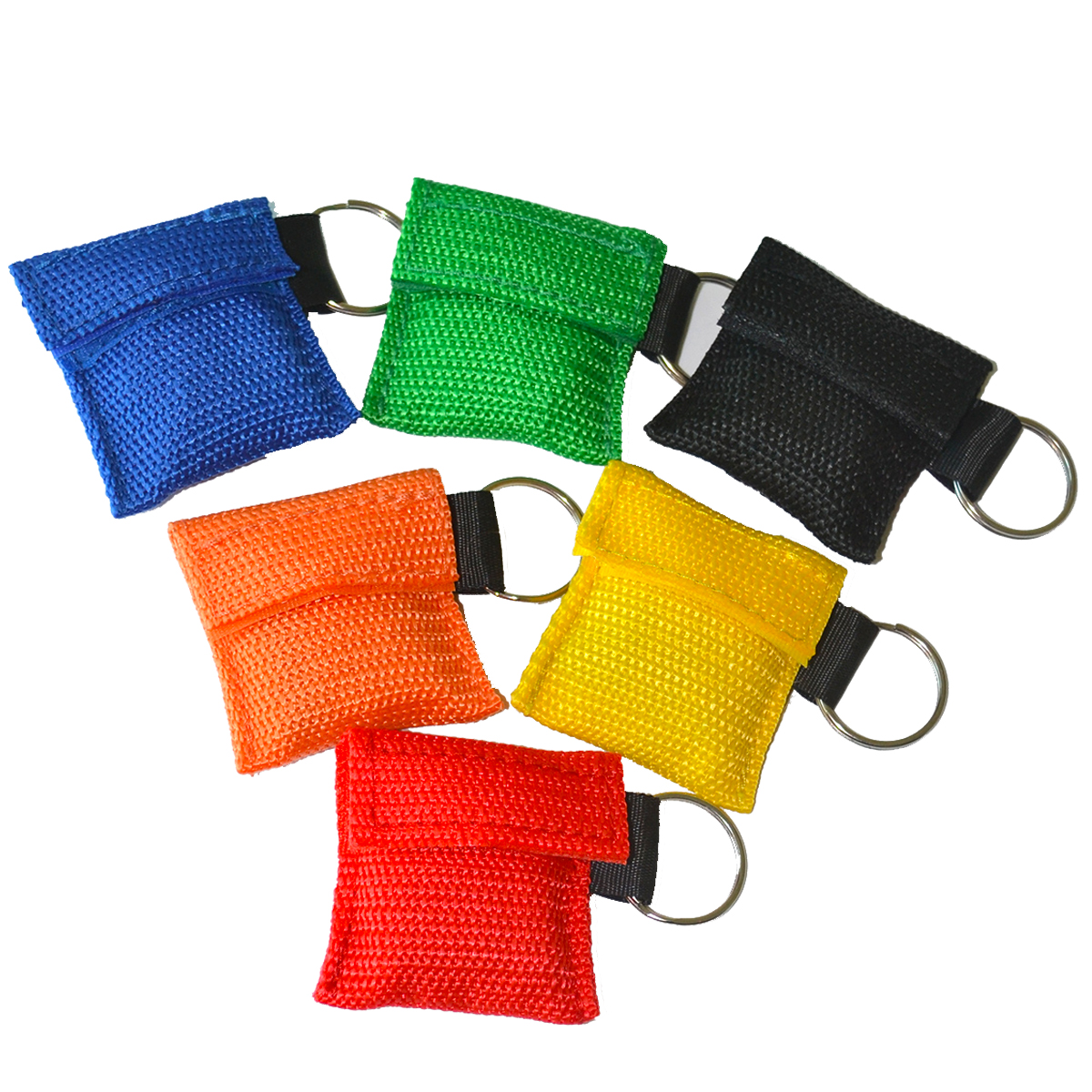 60Pcs/Lot CPR Mask With Keychain CPR Face Shield For CPR/AED Training First Aid Rescue Survial Kit 6 Color For Chosen