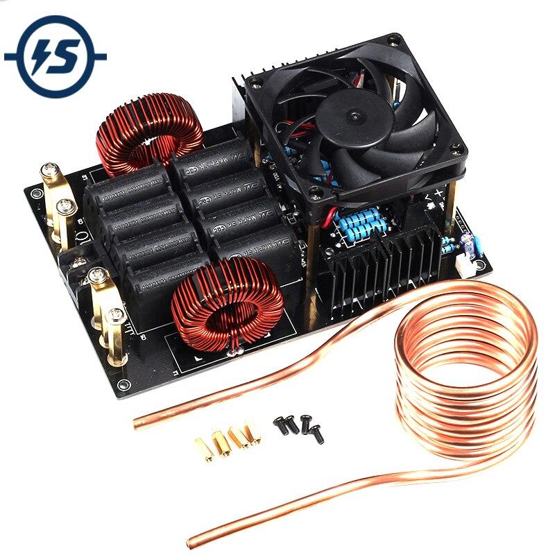 Высокочастотный индукционный нагреватель ZVS  генератор высокого напряжения 1000 Вт с катушкой для расплава металлов  постоянный ток 12-40 в 50 А 1... title=