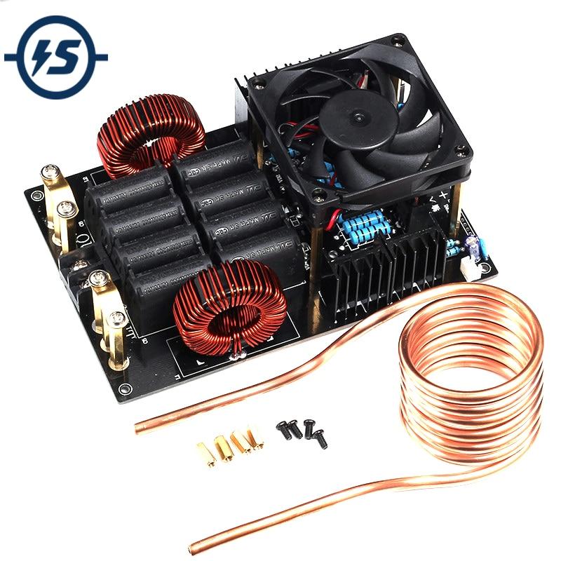 DC 12-В 40 в 50A 1 кВт генератор высокого напряжения высокая частота низкого напряжения ZVS индукционный нагреватель 1000 Вт доска с катушкой для рас...