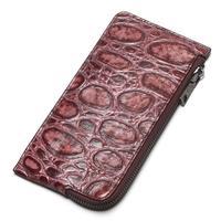 Women Wallet Genuine Leather Wallet Crocodile Grain Phone Pocket Small Coin Purse Zipper Fashion Clutch Bag Carteira Feminina