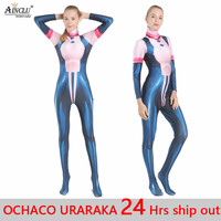 Ainclu 3D Print Women Kid OCHACO URARAKA Cosplay Costume Zentai My Hero Academia Boku no Hero Academia Cosplay Bodysuit Jumpsuit