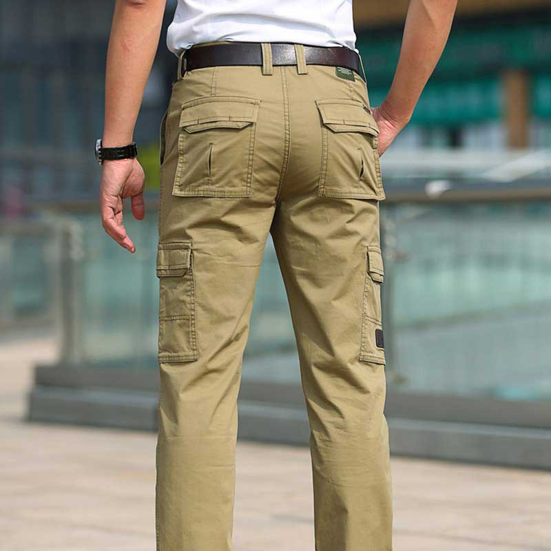 New Fashion Spring Summer Cargo Pants Pockets Men Casual Pants Cotton Straight Loose Baggy Trousers Male Clothes Joggers