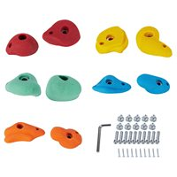 10 Textured Resin Bolt On Climbing Frame Rock Wall Grab Holds Grip Stones