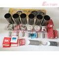 Для Isuzu engine rebuild kit 6SD1 6SD1T 6SD1-TC поршень + кольцо гильзы цилиндра комплект прокладок подшипников