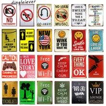 Types Of Espressos Cup Metal Tin Sign Bar Pub Wall Decor Poster Cafe Art