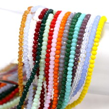 Rondelle Beads 3mm 148PCS/LOT Loose Crystal Wholesale Mixed Colors Faceted Porcelain Tamaryo for Bracelet Making