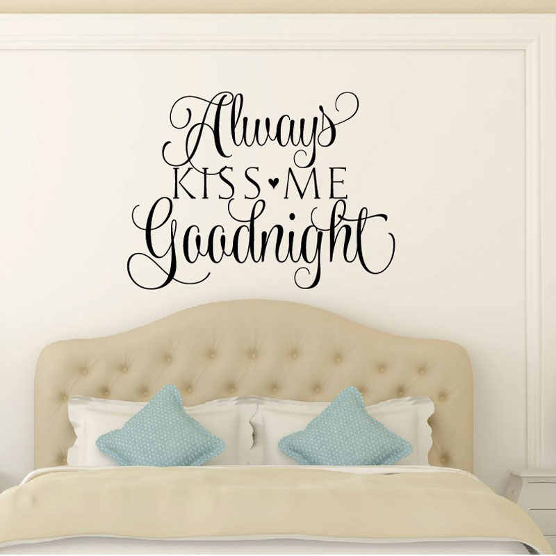 Bedroom Wall Decal Love Wall Decal Quotes Always Kiss Me Goodnight Vinyl Sticker Bedhead Wall Quotes Vinyl Lettering Lv07 Aliexpress,How To Build A New House In Bloxburg