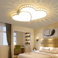 NEW Modern LED Chandeliers Heart Shape For Living Room Bedroom Dining Room Dimming Fixture Chandelier Ceiling Lamp