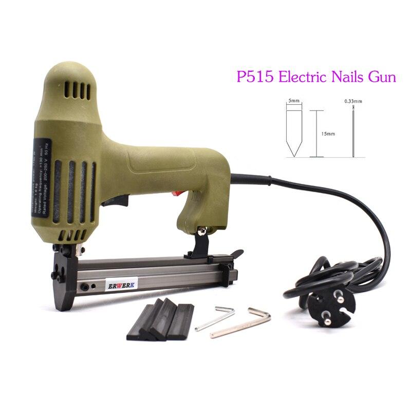 P515 Электрический гвоздезабиватель пистолет гибкие точки степлер пистолет для ногтей Инструменты с 1000 шт гвоздей для фоторамки