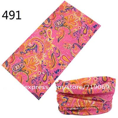 481-500 Fashion Bufanda Tubular Hijab Camo Bandana Scarf Seamless Neck Tube Bandana Standard Size 48*25cm Men Sport Bandana