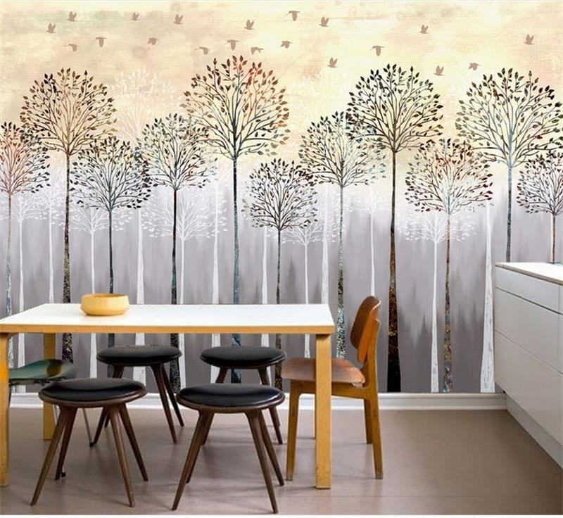 custom 3d photo wallpaper kids room mural retro forest landscape 3d painting TV sofa background non-woven wallpaper for wall 3d