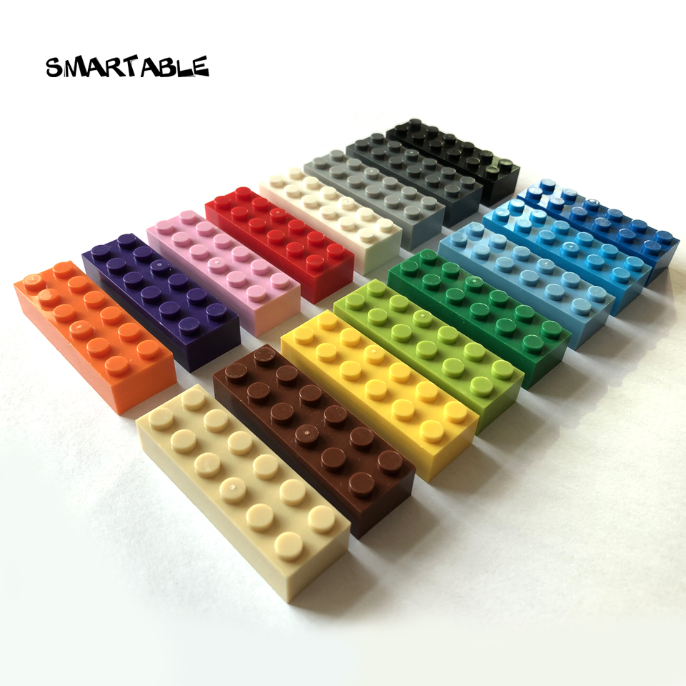 Smartable Brick 2X6 Building Blocks Parts DIY LOGO Toys For Creative Educational Compatible MajorBrands 2456 MOC Toy 27pcs/lot