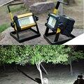 50 W Recarregável Holofote 36 CONDUZIU a Luz de Inundação À Prova D' Água 3 Modos Vermelho/Azul Mudança de Luz Para Acampamento Ao Ar Livre de Trabalho luz