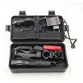 Z50 cree xm-l t6 led zoomable torch para caça tático lanterna 5000lm luz + bateria + interruptor remoto + carregador + arma de montagem