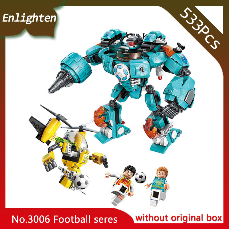 Enlighten 3006 533pcs Super Soccer Defensive Zone Robot Building Blocks Educational Toys Children Gift