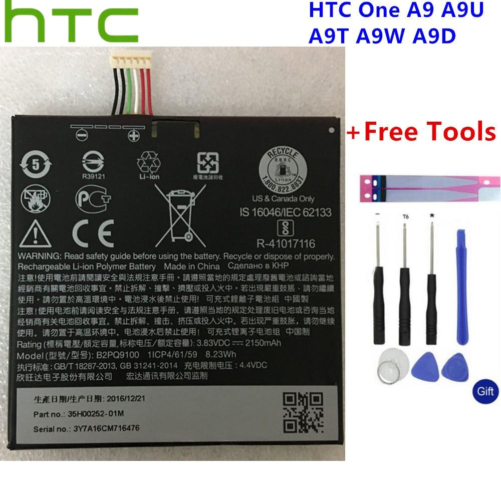 New HTC Original 2150mAh B2PQ9100 Lithium-ion Battery For HTC One A9 Battery A9U A9T A9W A9D Batteries+Gift Tools +Stickers