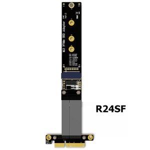 Image 2 - كابل تمديد M.2 لـ NVMe SSD ، بطاقة رفع محرك الأقراص الصلبة ، R44SF/R24SF M2 إلى PCI Express 3.0 X4 PCIE 32G/bps M Key Extender