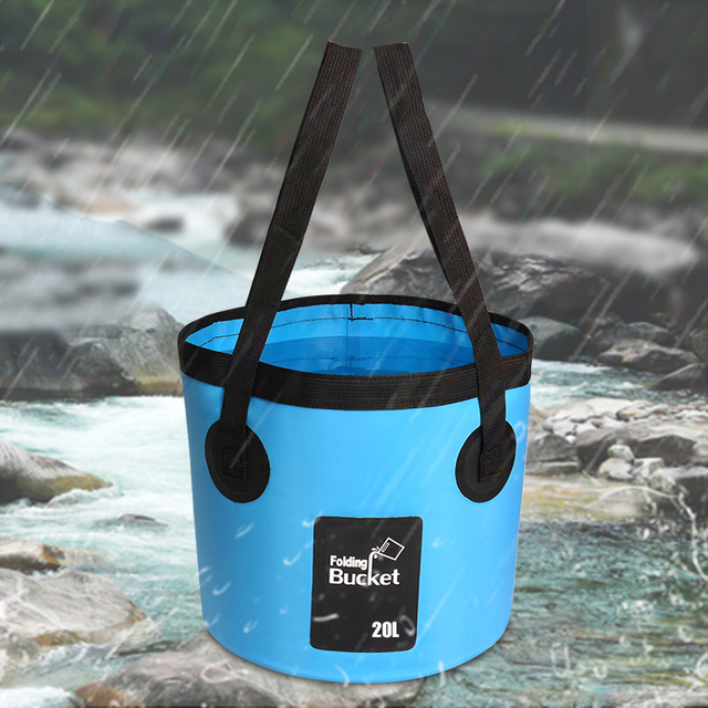 SZX 12L/20L 500D folding bucket fishing waterproof buckets portable folding bag storage outdoor car wash camping fishing bucket 3