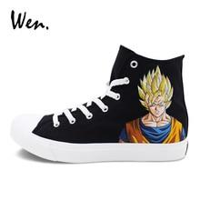 80f595658b16 ... on sale 2a2bd cc21e Wen Men Women Sneakers Custom Design Hand Painted  Shoes Anime Dragon Ball ...