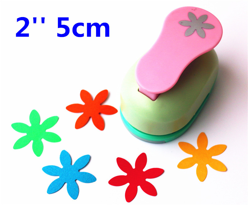 2 '' 5cm punch Super big petals embossed device Scrapbooking Paper Puncher DIY tools 1 pcs 3d angel super big device embossed scrapbooking paper puncher diy tools
