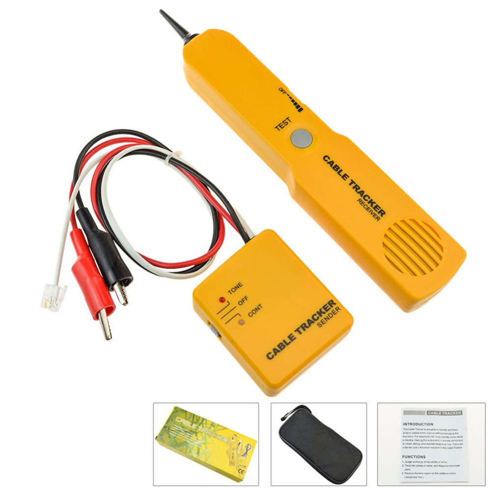 Network Phone Telephone Line Cable Tracker Wire Tracer Tester Sender Short Open Finder Auto Circuit Detector Car Wiretracker Repair Tool Rj45 Continuity And Toner Automotive