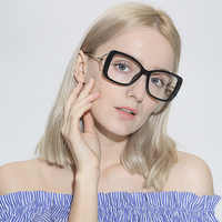 Women Metal Legs Designer Optical Eyeglasses Prescription Acetate Rim Spectacles for Big Rim Glasses Frame Fashion Styles 97532