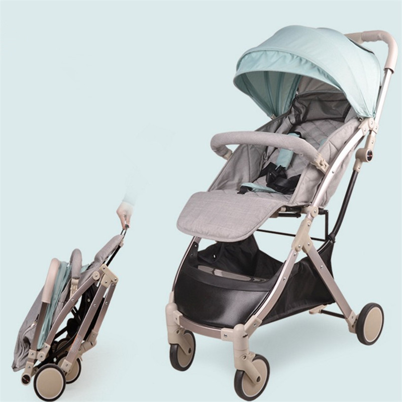 Babyruler Lightweight Portable Baby Stroller 3 in 1 Mini Size Can Sit Or Lie High Landscape Kinderwagen Pram Pushchairs цена и фото