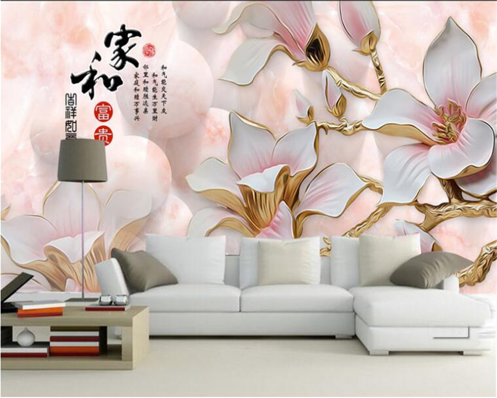 US $9.0 40% di SCONTO Beibehang Murale Personalizzato Casa Soggiorno camera  Da Letto TV Sfondo Murale In Rilievo Orchidea Sfondo murale carta da ...