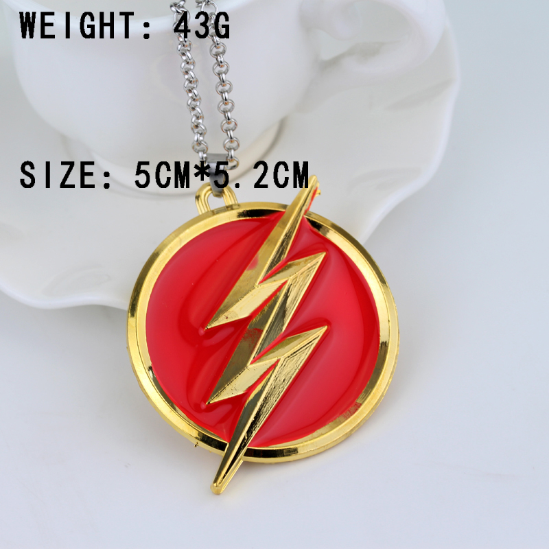 Fashion America DC Comics Flash Goldon Lightning Moment Collier Red - Mode smykker - Foto 3