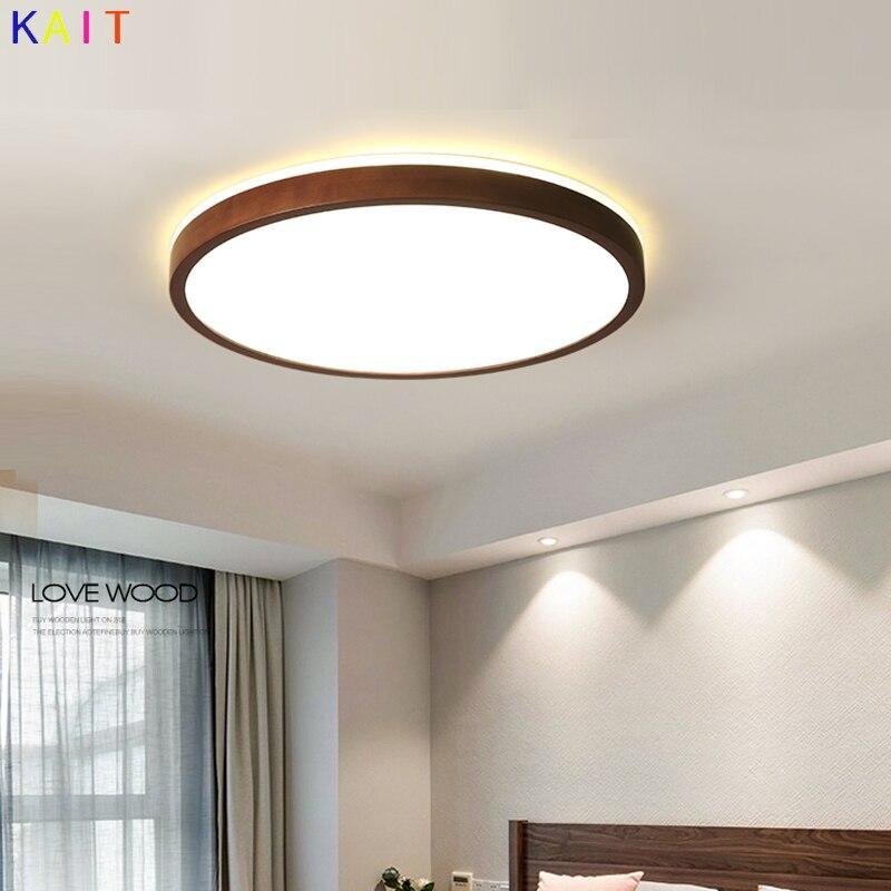 Nordic LED Holz Decke Lichter In Quadratische Form Leuchten Nussbaum holz decke lampe-in Deckenleuchten aus Licht & Beleuchtung bei Shenzhen Kat Lighting Co., Ltd. Store