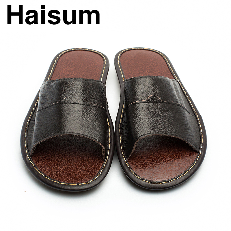 Overseas warehouse---Men's Slippers Spring And Summer genuine Leather - Men's Shoes - Photo 5